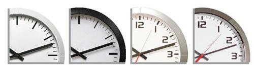 Analogue Clocks - Colours