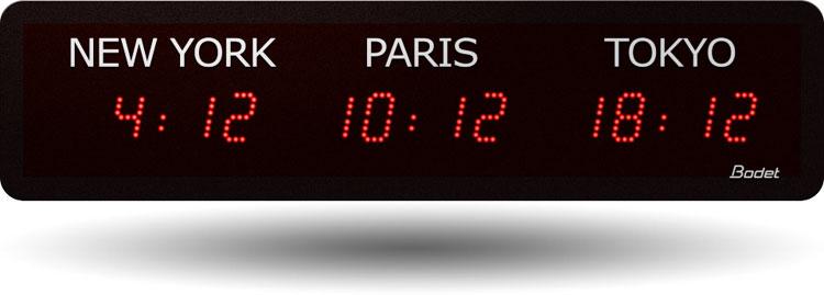 Bodet World Clocks