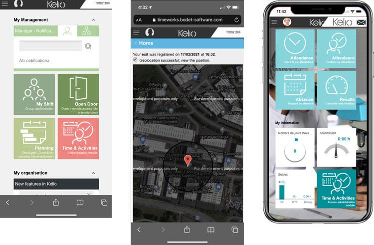 Kelio Mobile Overview